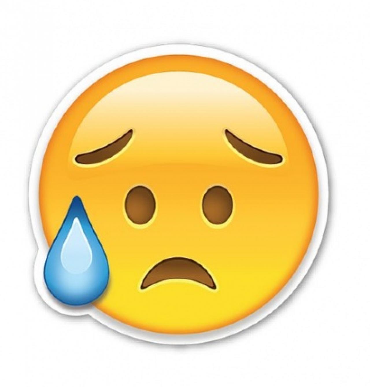 Resultado de imagen de emoji sudando